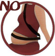 Colocacion incorrecta cinturon embarazada