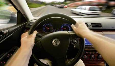 Vista subjetiva VW Steuer
