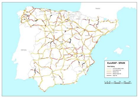 Estudio de tramos de riesgo y puntos negros en las carreteras españolas
