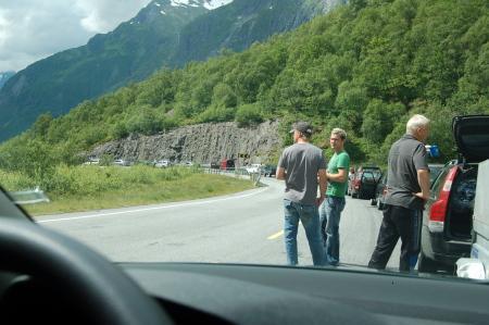 Caravana en la carretera