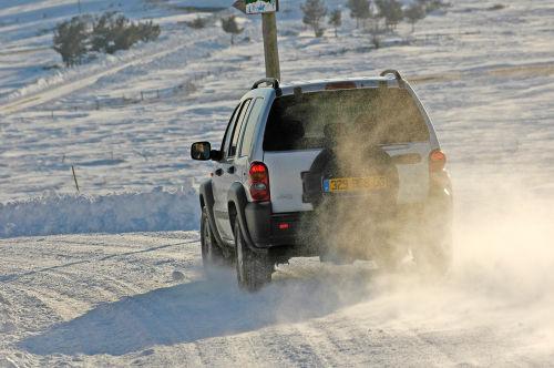 Jeep Cherokee con neumaticos de invierno