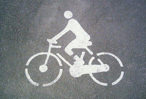 Marca vial: bicicletas