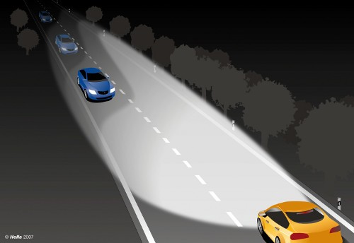 Asistentes de luces de carretera o largas