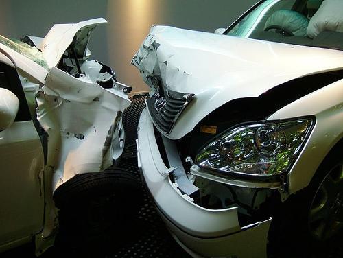 Choque frontal en un ensayo de sistemas de seguridad de Toyota