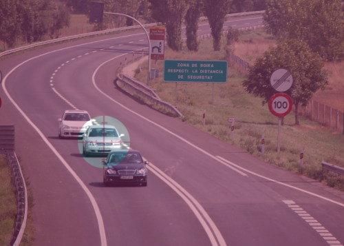 Falta de distancia de seguridad, una infracción muy frecuente
