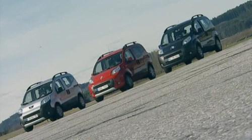 Citroen Nemo Peugeot Bipper Fiat Qubo prueba del alce