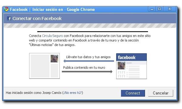 Conectividad entre Circula Seguro y Facebook