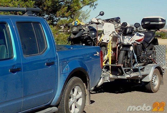 Transporte de motocicletas en remolque (y 3)