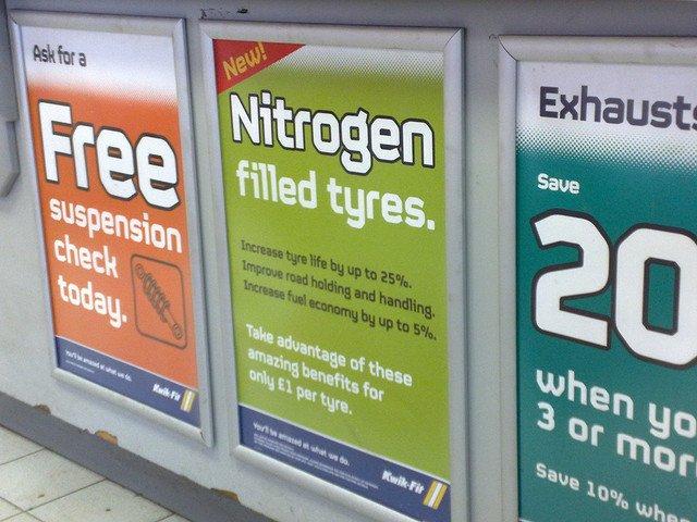¿Vale la pena inflar las ruedas con nitrógeno? (2)
