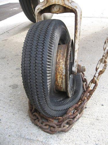 Otra rueda desllantada