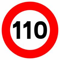 Limite a 110 km/h