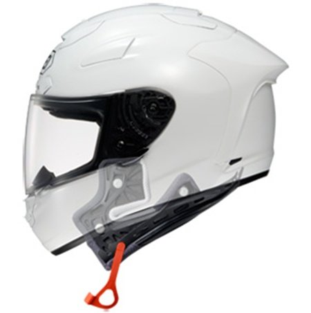 Arai Removal Assist Hood y SHOEI X-Twelve's Emergency Quick Release System, todos con el casco fuera