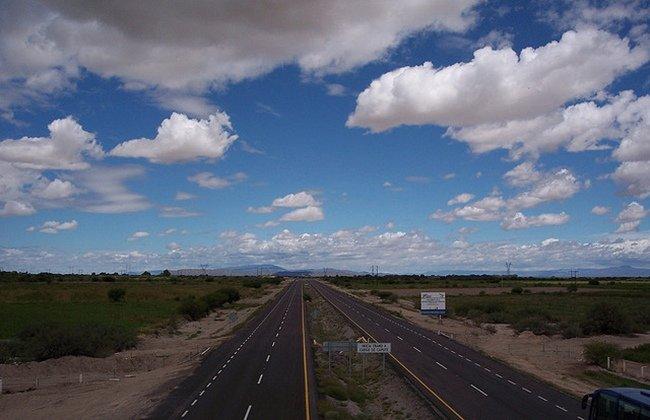 carretera nubes
