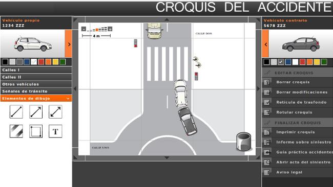 'Croquis del accidente', cómo rellenar el parte del seguro con una aplicación on-line