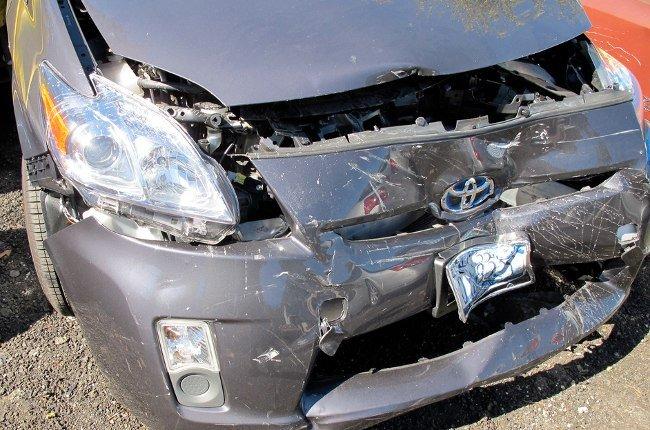 Toyota Prius después de un choque