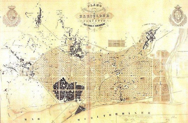 Proyecto del ensanche de Barcelona, 1856