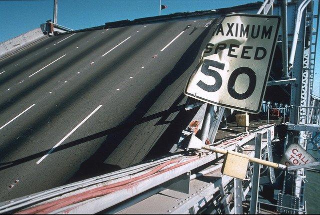 Velocidad límite, situada en pendiente