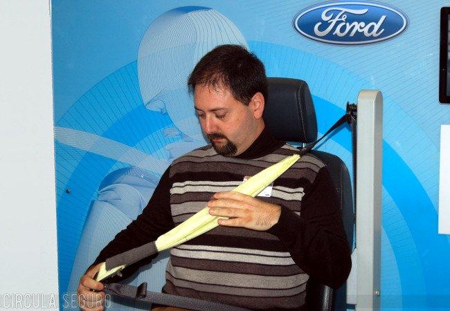 Airbag para cinturón de seguridad