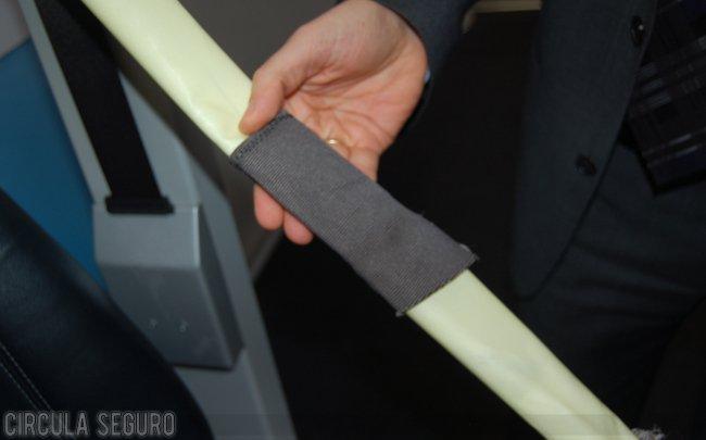 Tela que recubre el airbag del cinturón