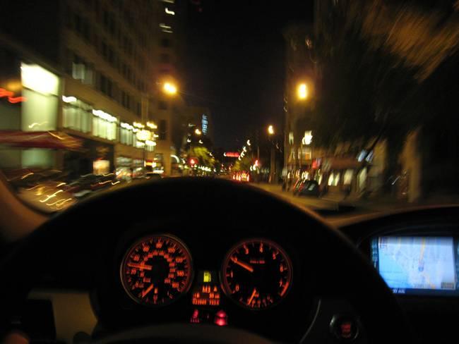 Un conductor alemán por Madrid