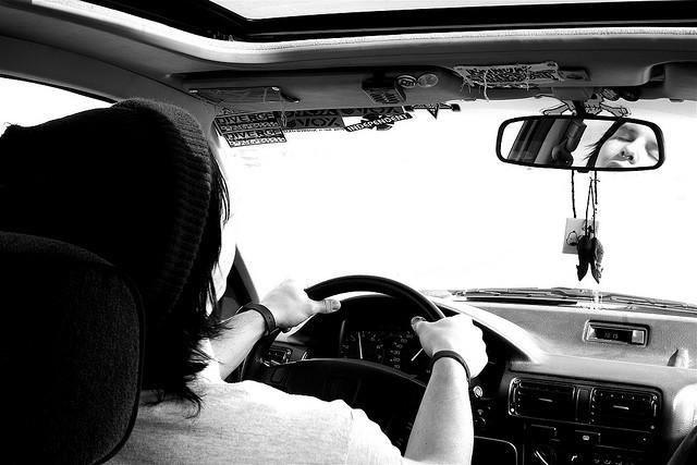 Dormida al volante