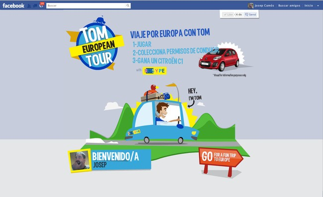'Tom European Tour', consigue un Citroën C1 por cortesía de Michelin y ROSYPE
