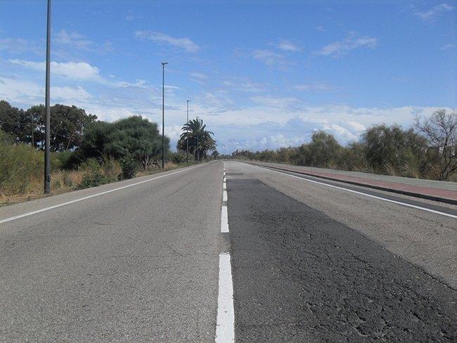Recta en carretera secundaria