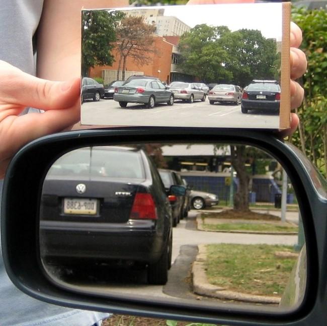 Retrovisor y espejo