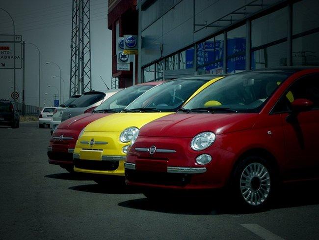 Fiat bandera España por simbiosc