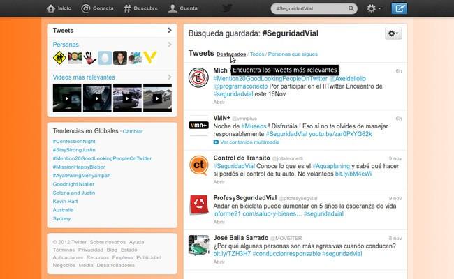 Nueve contactos sobre #SeguridadVial que no pueden faltar en tu Twitter