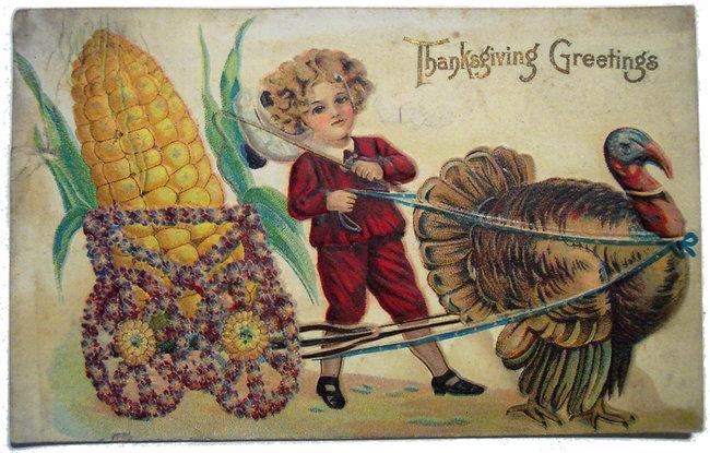 Thanksgiving Day, postal de felicitación