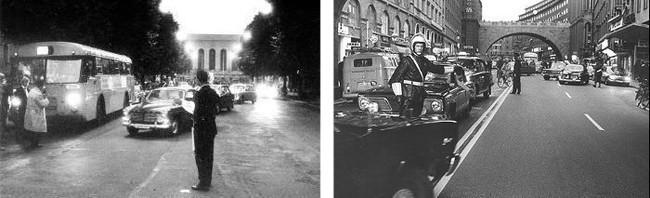 Dagen H en Goteborg y Estocolmo