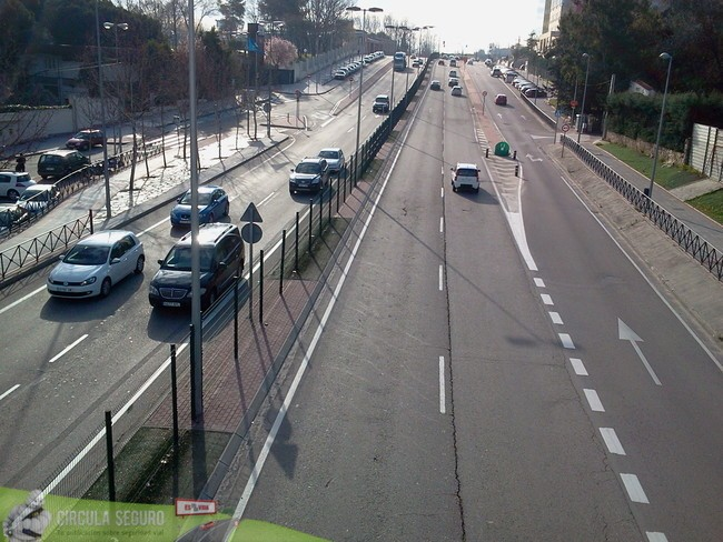 Los tramos blancos de las carreteras de España se han duplicado en los últimos 10 años