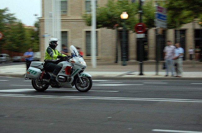 Motorista Guardia Civil