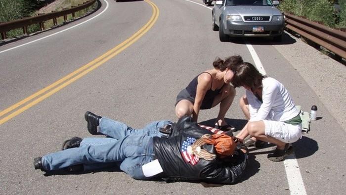 Cómo actuar en caso de accidente de moto