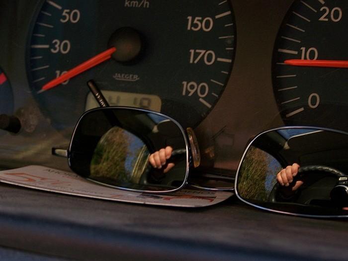 la vista en seguridad conducción