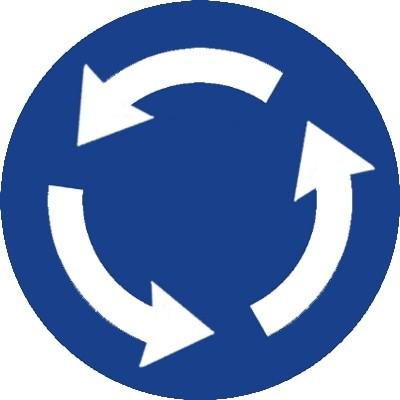 Circular en rotondas DGT R-402