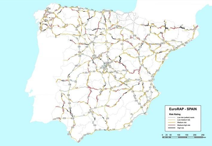 Estas son las peores carreteras de España según EuroRAP 2014