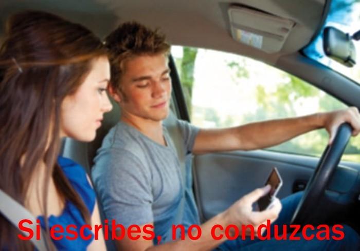 Si escribes, no conduzcas