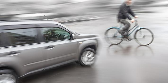 Ciclista imprudente