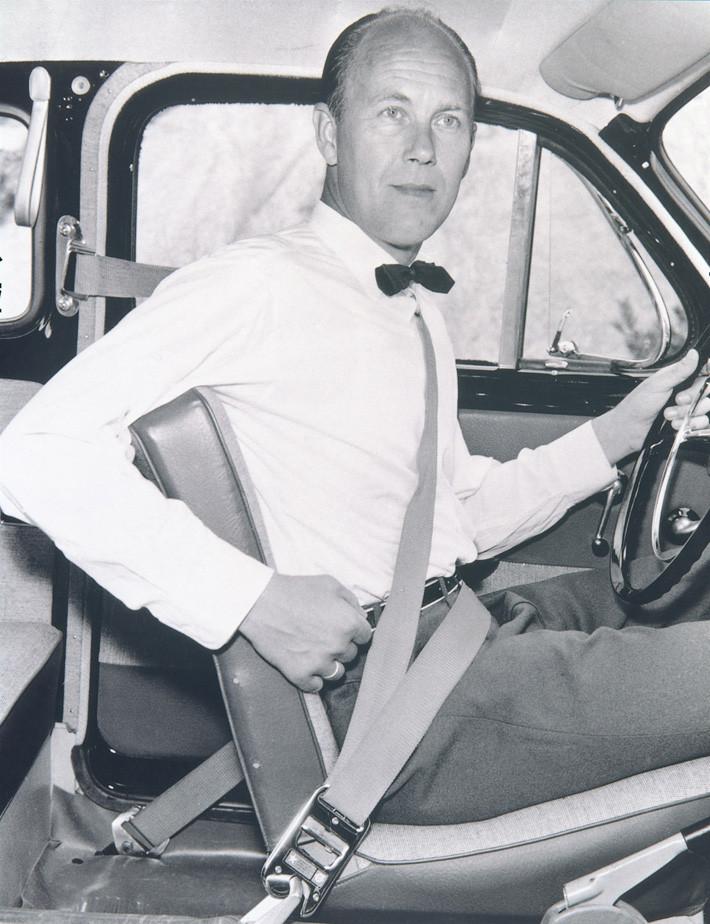 Nils Bohlin cinturón de seguridad