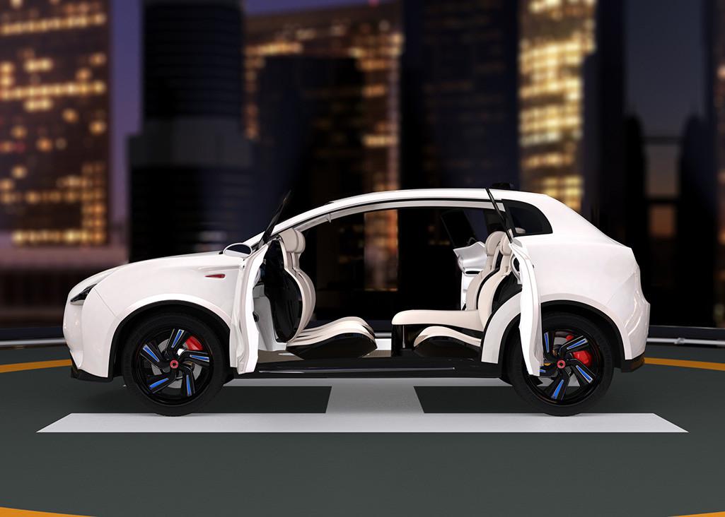 SUV autónomo con inteligencia artificial
