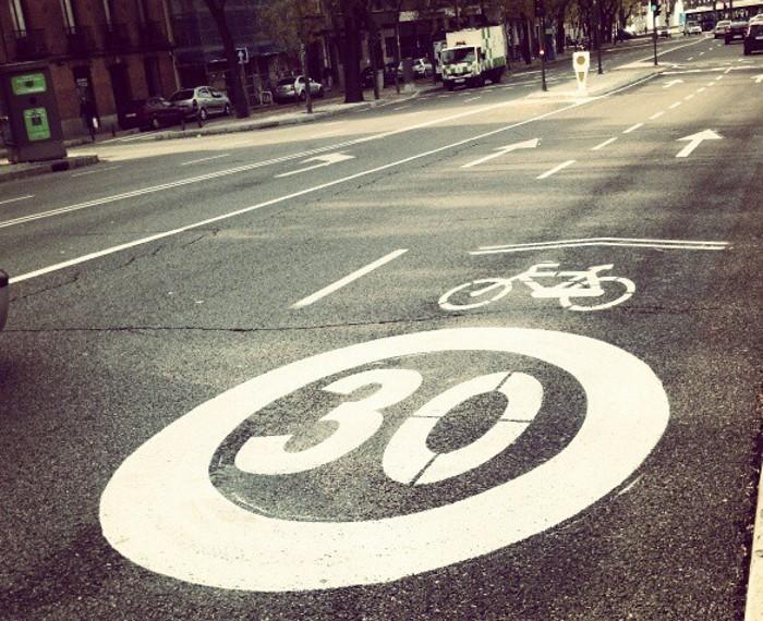 Ciclocarril a 30 km/h de velocidad máxima