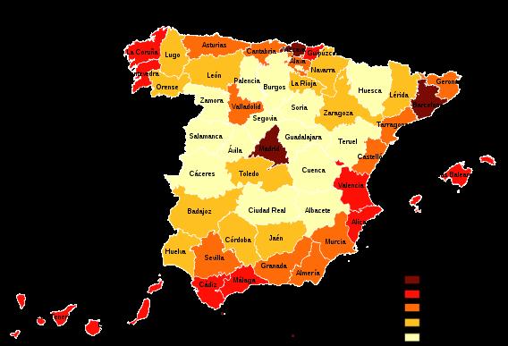 mapa poblacion españa