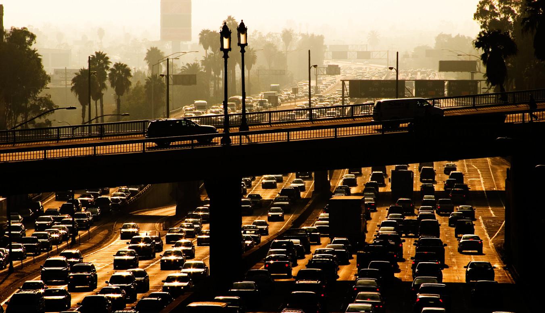 Los Angeles en plena hora punta