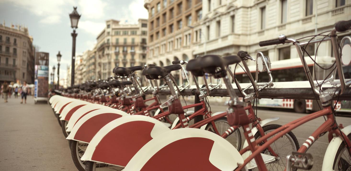 Servicio de bicicleta compartida en Barcelona