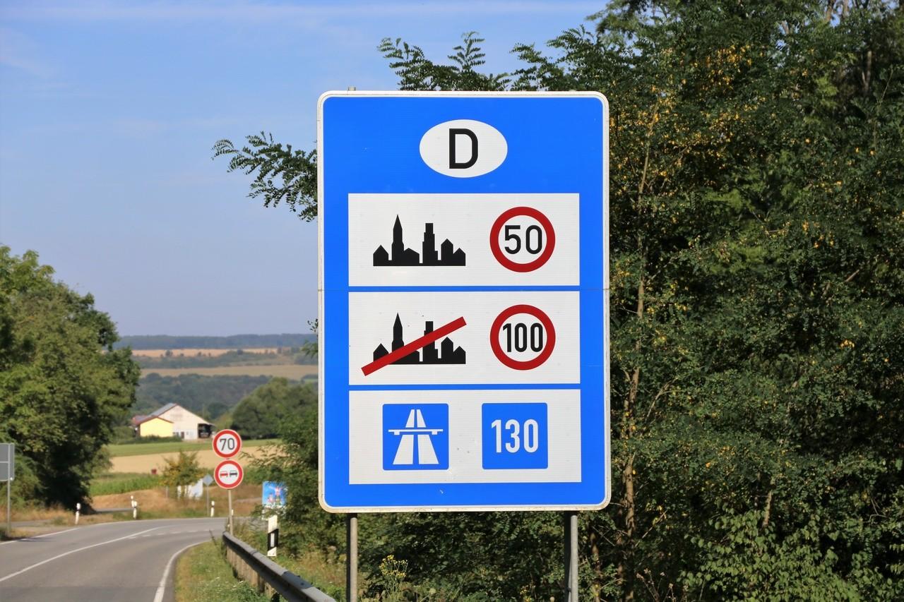 Limites de velocidad en Alemania y Austria