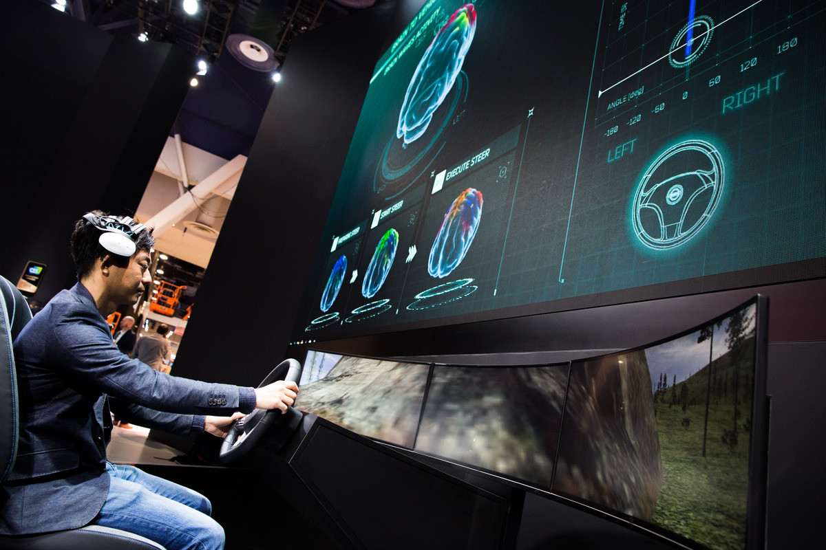 nissan brain-to-vehicle CES 2018