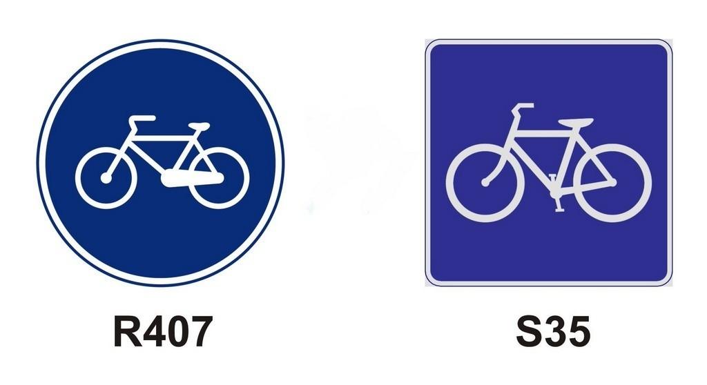 señales de carril bici