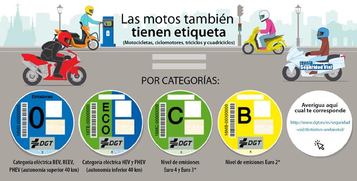 distintivo ambiental motos y ciclomotores